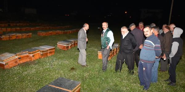 Ankara Büyükşehir'den 75 çiftçiye 350 arılı kovan  verildi