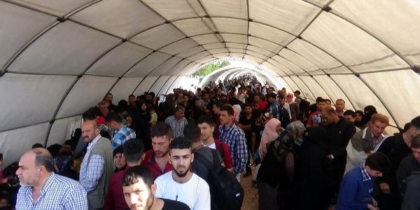 Yaşlı ve engelli ile birlikte yatağa bağlı Suriyeliler geri dönüş yolunda