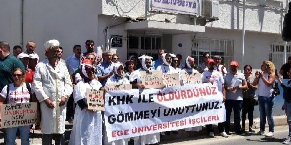 İzmir'de işçilerden kefenli eylem: Bizi öldürdünüz, gömmeyi unuttunuz