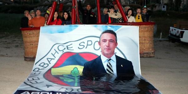 Ali Koç'un Fenerbahçe başkanlığını Kapadokya'da böyle kutladılar