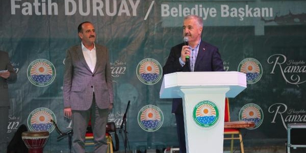 Bakan Ahmet Arslan'dan Gölbaşı'ndaki iftarda Ankaralılara Mogan Gölü müjdesi