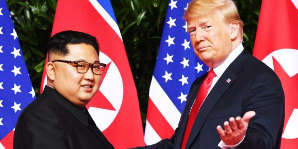 Kim ile başbaşa görüşen Trump'a ülkesinden büyük tepki