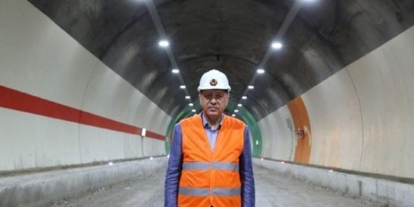 Ovit Tüneli, Cumhurbaşkanı Erdoğan'la resmen açıldı