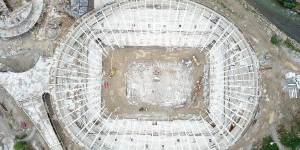 Giresun'da yapımı süren stadın ismi belli oldu; Çotanak Spor Kompleksi