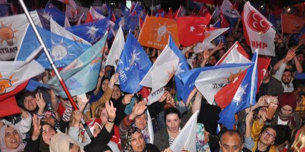 Eskişehir'de Ak Parti ve MHP'lilerden büyük sevinç