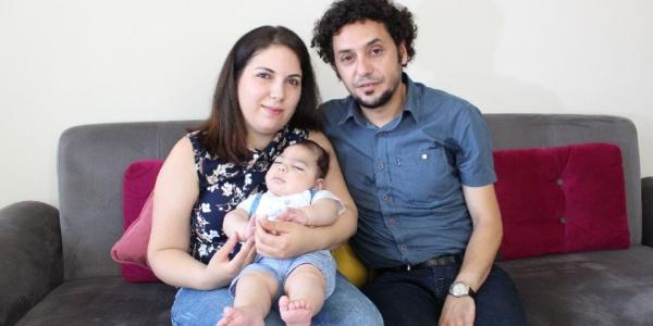 Ailesinin en büyük dileği minik Çınar Alp'i ağlarken görmek