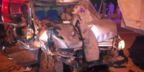 Gümüşhane'de güvenlik görevlilerinin kazasında 1 kişi öldü, 1 yaralı