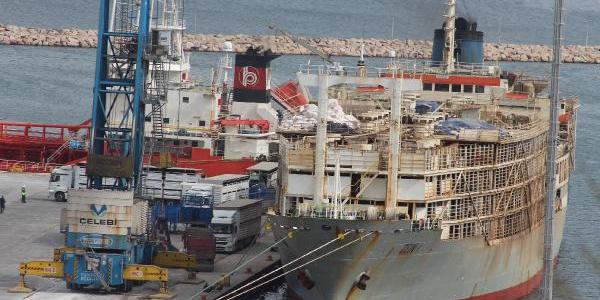Brezilya'dan 7 bin 840 dana getiren gemi Bandırma Limanı'na demirledi