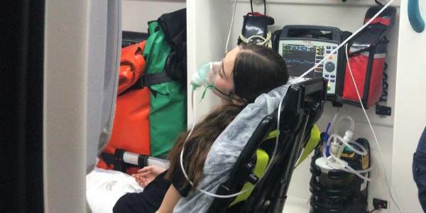 Nargile kömürlerinin tutuştuğu kafede 8 kişi hastanelik oldu