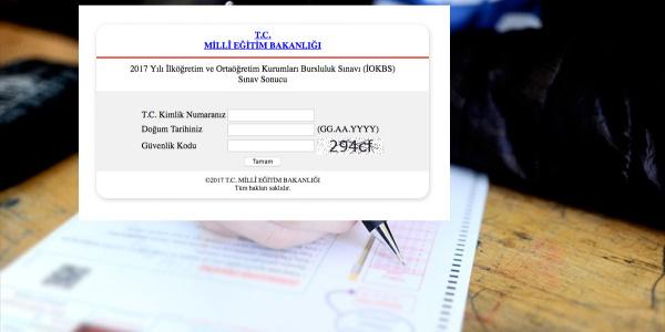 İOKBS sonuçları açıklandı MEB bursluluk sınavı sorgulama ekranı
