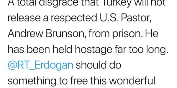 Trump'tan tutuklu papazla ilgili Cumhurbaşkanı Erdoğan'a çağrı