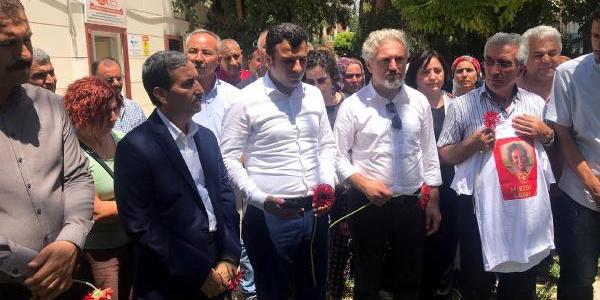 Şanlıurfa Suruç'ta katledilen 33 kişi için 3. yılda mezar başında tören