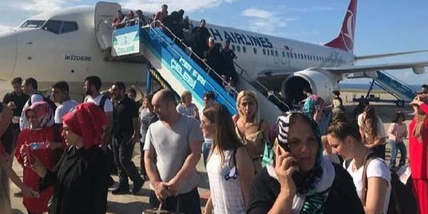 Trabzon-Ankara seferini yapan uçakta klima yüzünden panik