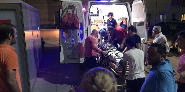 Sapanca'da motosikletin çarptığı Can Gürzap hastaneye kaldırıldı