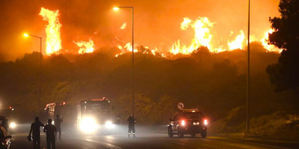 Yunanistan'daki yangın faciası gittikçe büyüyor:  24 ölü