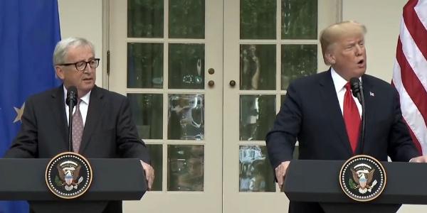 Trump ile Avrupa Komisyonu Başkanı Juncker arasında uzlaşma