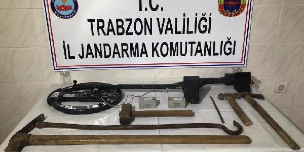 Trabzon'da kilisedeki define kazısına baskın : 5 gözaltı