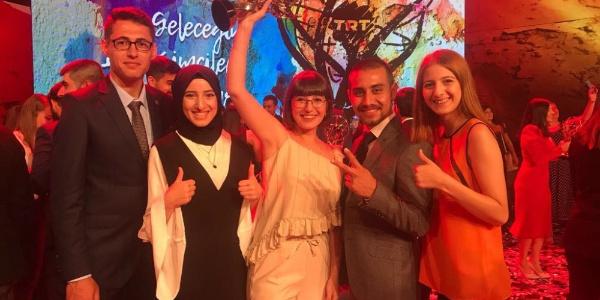 TRT'nin düzenlediği yarışmada Erzurum'dan katılan genç iletişimcilere 3 ödül birden