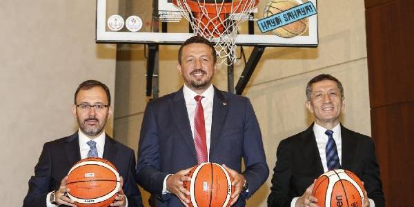 İki bakanlık TBF ile birlikte basketbol seferberliği başlattı