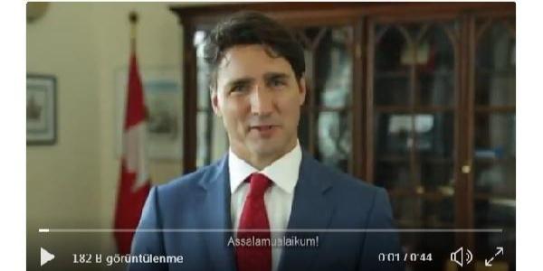 Kanada Başbakan'ndan 'Esselamü Aleyküm'le başlayan bayram mesajı