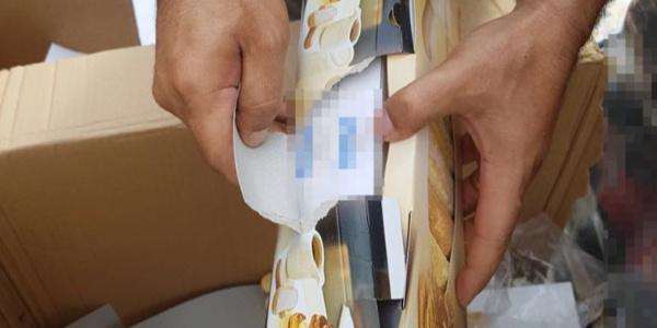 Bisküvi ambalajlı  paketlerden 7 bin paket kaçak sigara çıktı