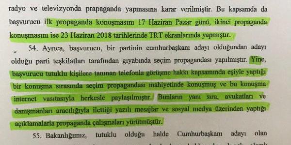 Adalet Bakanlığı'ndan AYM'ye Selahattin Demirtaş'la ilgili açıklama