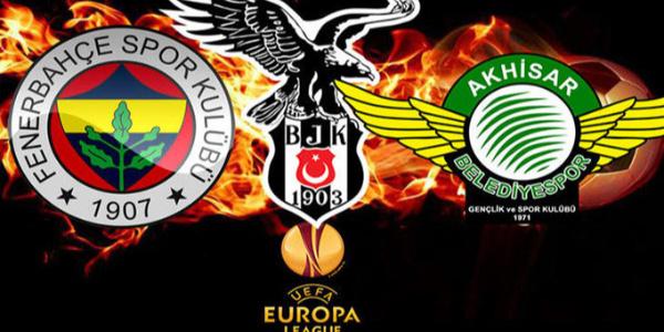 Beşiktaş, Fenerbahçe ve Akhisarspor'un UEFA'daki rakipleri belli oldu