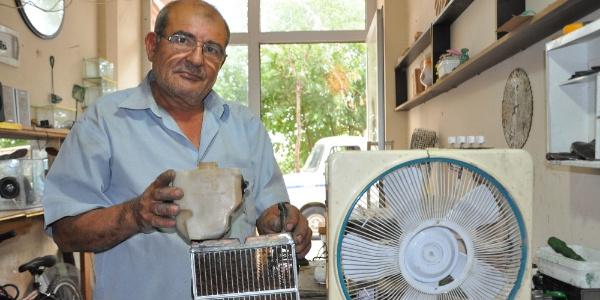 Manisalı marangoz sıcaktan bunalınca otomobil radyatörüyle klima yaptı
