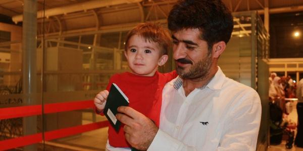 Adıyaman'da 18 aylık Ali Semih Uçar en küçük hacı oldu