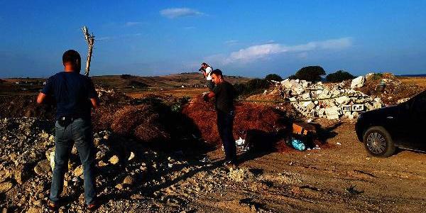 Çanakkale Gelibolu'daki çöplükten 'top mermisi' çıktı