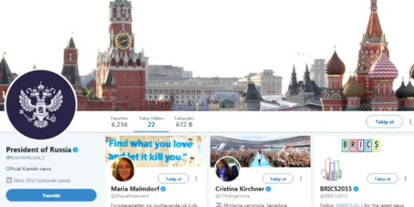 Kremlin, sosyal medya hesabında Trump'ı yok saydı