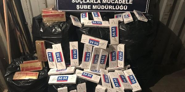 Van'da kamyonun lastiklerinden 6 bin paket kaçak sigara çıktı