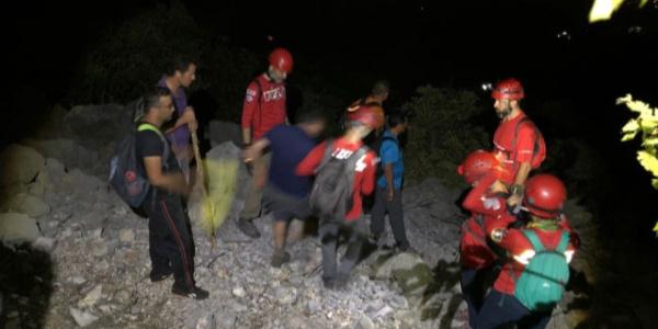 Antalya Cebel-i Reis Dağı'ndaki 6 amatör dağcının imdadına AKUT yetişti