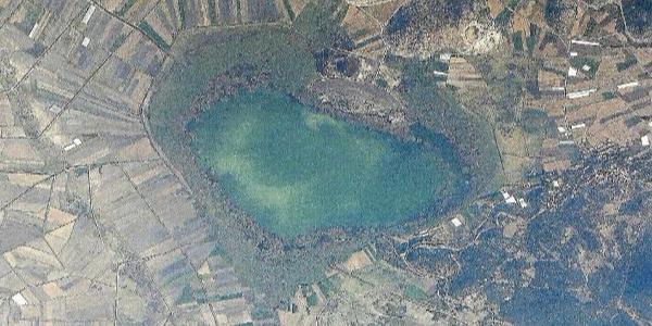 Gölhisar Gölü, gökyüzünden Burdur'un kalbi gibi!