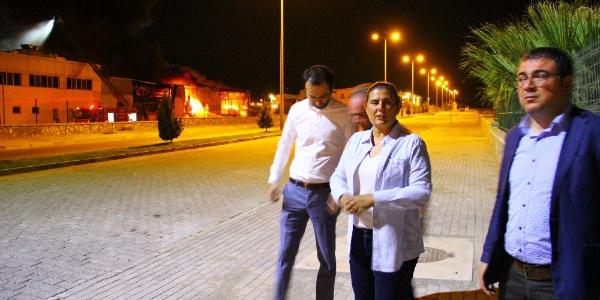 Aydın'da Türkiye'nin en büyük süt işleme tesislerinden biri yandı