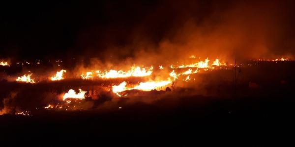 Adıyaman Karadağ'da 10 hektarlık alan yandı