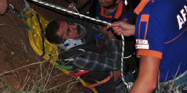 Bursa'da baraja düşen alkollü şahıs için AFAD ve JAK'tan kurtarma operasyonu