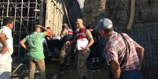Hatay'da Kolej inşaatında1 işçi öldü, 2 işçi yaralı