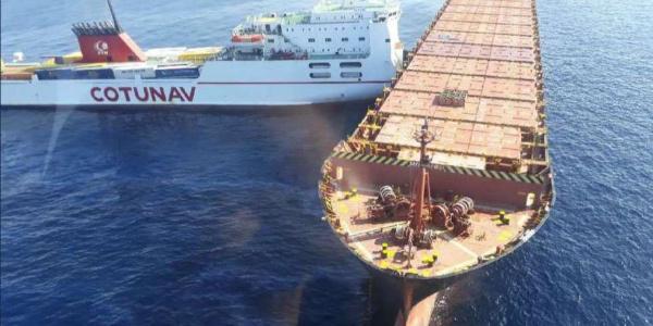 Tunus ve Güney Kıbrıs bandıralı 2 gemi Akdeniz'de çarpıştı