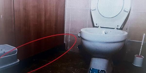 Karargah emniyet subayına,  kadınlar tuvaletinde görüntü almaktan dava açıldı