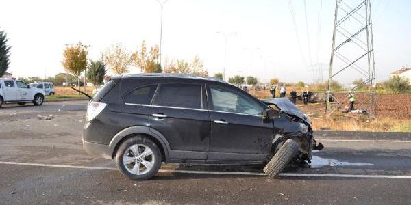 Aksaray'da polisleri taşıyan araç tarlaya devrildi: 4'ü polis 5 yaralı