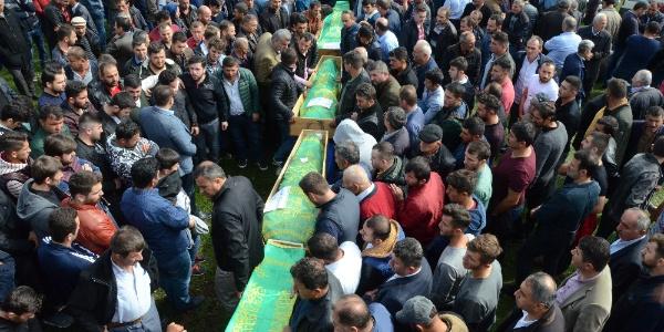 Ordu Gölköy'de 4 işçinin cenazesi birden kaldırıldı