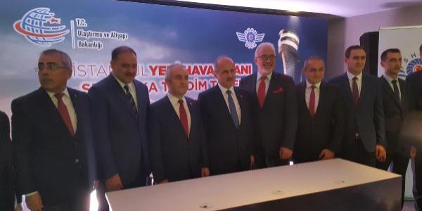 İstanbul Yeni Havalimanı Ruhsat  Takdim Töreni yapıldı