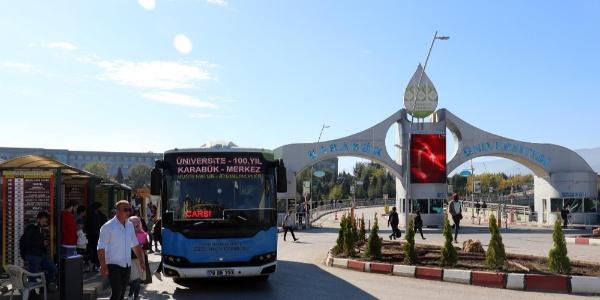 KBÜ'de dolmuş ve otobüslere kampüse giriş izni