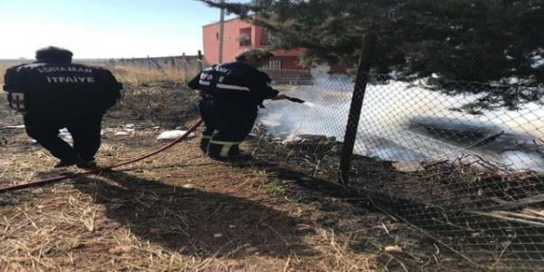 Anız yangını kontrol altına alındı