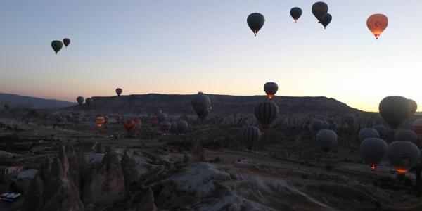 Kapadokya'ya Ekim ayında 324 bin 375 yerli ve yabancı turist geldi