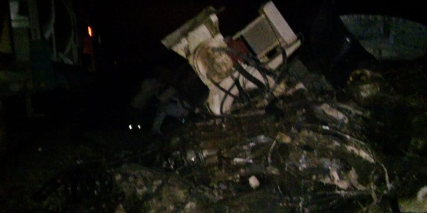 Bandırma Kavşağı'nda beton mikseri yük trenine çarpması sonucu  2 yaralı