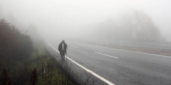 ZONGULDAK'ta etkili olan sis nedeniyle karayollarında görüş mesafesi, 10 metreye kadar düştü