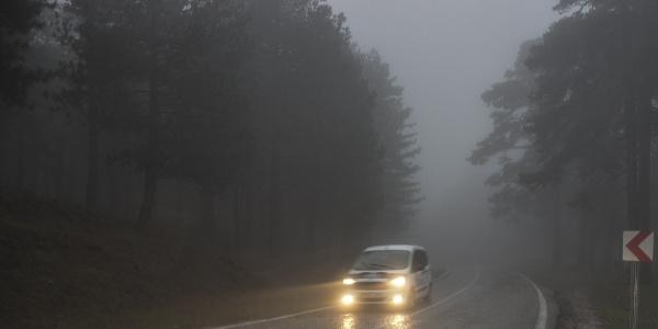 Kazdağları'nda yoğun sis