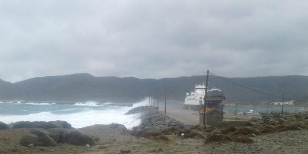 Çanakkale'de poyraz deniz ulaşımını olumsuz etkiledi